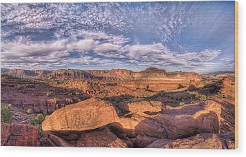 Capitol Reef Sunset Wood Print by Stephen Campbell