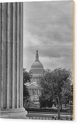 Capitol View Wood Print by Boyd Alexander