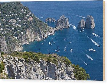 Capri Wood Print by Francesco Riccardo  Iacomino