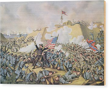 Capture Of Fort Fisher 15th January 1865 Wood Print by American School