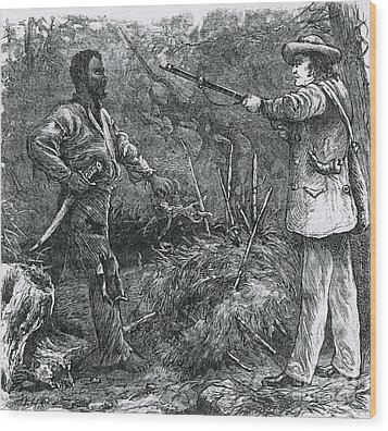 Capture Of Nat Turner, American Rebel Wood Print by Photo Researchers