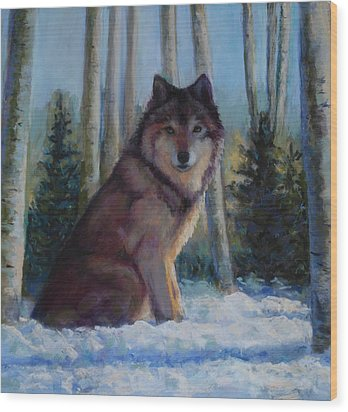 Captured By The Light Wood Print by Billie Colson
