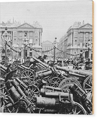 Captured German Guns At Palace De La Concorde In Paris - France Wood Print by International  Images