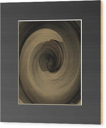 Capuccino Wood Print by Ines Garay-Colomba