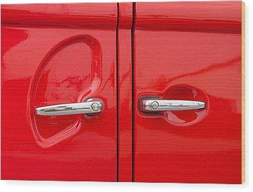 Car Handles Wood Print