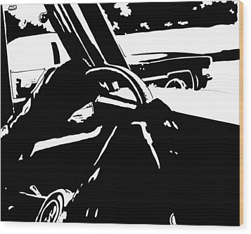 Car Passing Wood Print by Giuseppe Cristiano