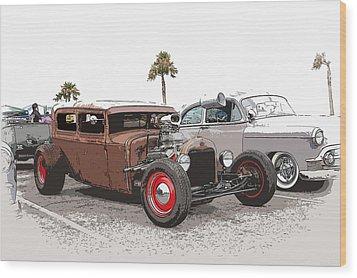 Car Show Cool Wood Print by Steve McKinzie