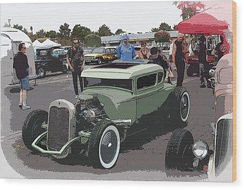 Car Show Coupe Wood Print by Steve McKinzie