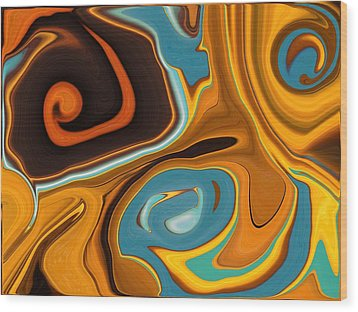 Caramel Dreams Wood Print by Renate Nadi Wesley