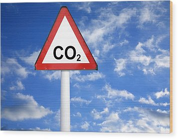 Carbon Dioxide And Global Warming Wood Print by Victor De Schwanberg