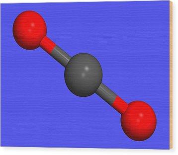 Carbon Dioxide Wood Print by Dr Tim Evans
