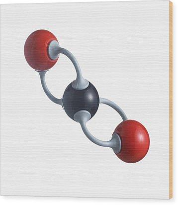 Carbon Dioxide Molecule Wood Print by