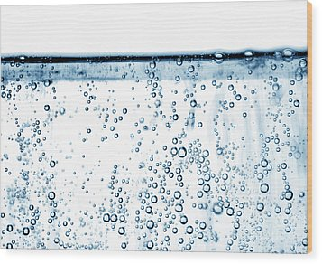 Carbonated Water Wood Print by Photo Researchers, Inc.