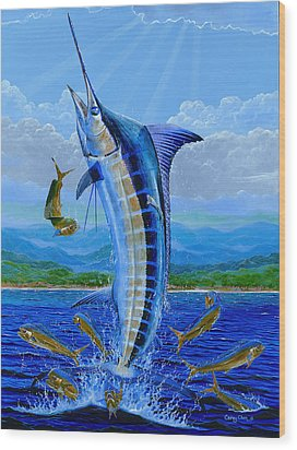 Caribbean Blue Wood Print by Carey Chen
