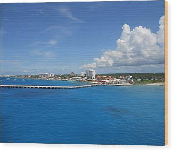 Wood Print featuring the photograph Caribbean Blue by Sheila Silverstein