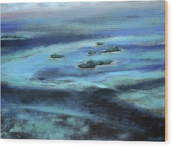 Caribbean Blue Wood Print by Tom Smith