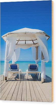 Caribbean Relaxation   Wood Print by Patrick  Flynn