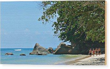 Caribe Beach Wood Print by Jenny Senra Pampin