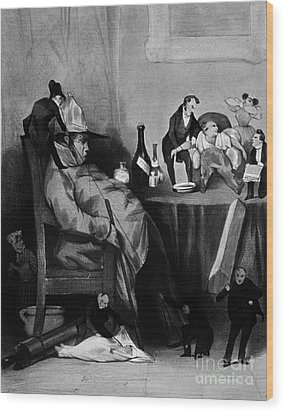 Caricature Of Hypochondriac, 1833 Wood Print by Science Source