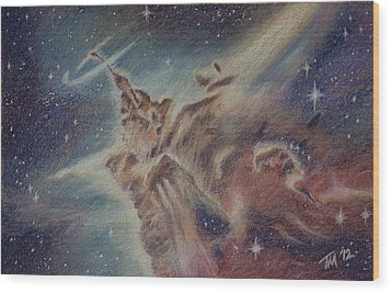 Carina Nebula Wood Print by Thomas Maynard