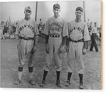 Carl Hubbell Ctr Of Nys Giants Fame Wood Print by Everett