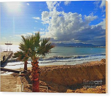 Carlton Beach Cannes Wood Print