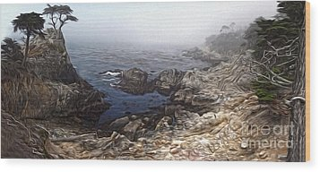 Carmel California - Lone Pine Wood Print by Gregory Dyer