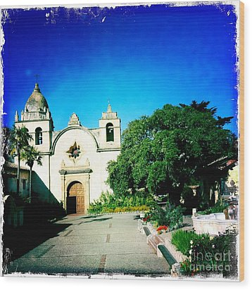 Wood Print featuring the photograph Carmel Mission by Nina Prommer