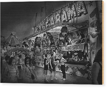Carnival - Game-a-rama Wood Print by Mike Savad