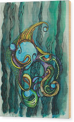 Carnival Fish 2 Wood Print