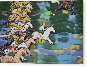 Carnival Horse Race Game Wood Print by Garry Gay