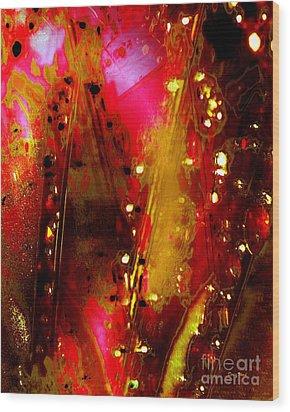 Carnival Lights Wood Print by Doris Wood