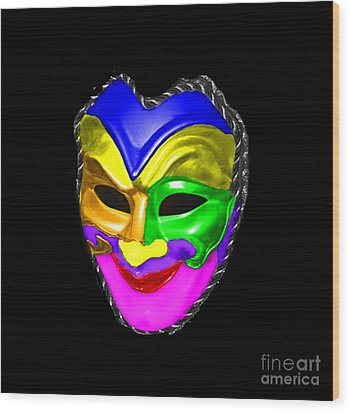 Wood Print featuring the photograph Carnival Mask by Blair Stuart