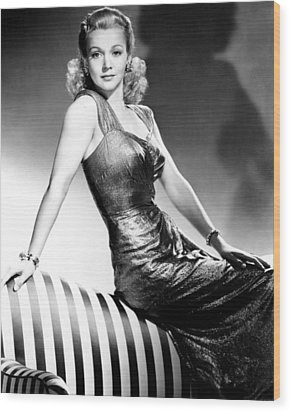 Carole Landis, Publicity Shot, Ca. 1943 Wood Print by Everett