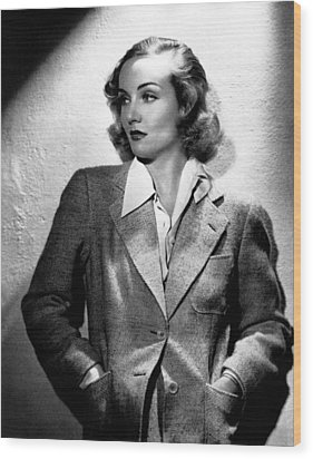 Carole Lombard, Ca. 1930s Wood Print by Everett