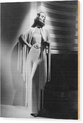 Carole Lombard, Ca. Early 1940s Wood Print by Everett