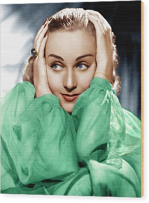 Carole Lombard, Ca. Late 1930s Wood Print by Everett