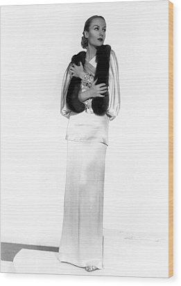Carole Lombard, Portrait Wood Print by Everett