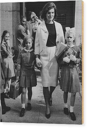 Caroline Kennedy Front Left, Jacqueline Wood Print by Everett