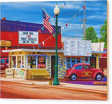 Carol's Corner Wood Print by Mike OBrien
