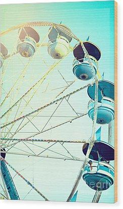 Carousel 2 Wood Print by Kim Fearheiley
