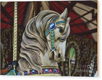 Carousel Horse 3 Wood Print by Paul Ward