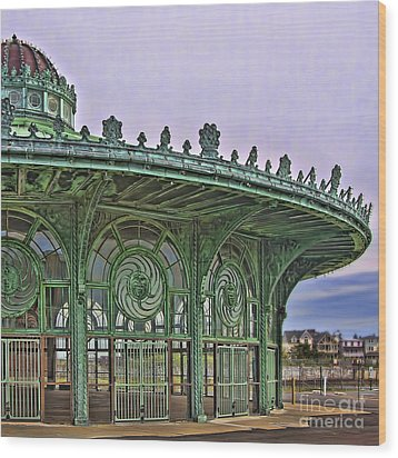 Wood Print featuring the photograph Carousel House by Vicki DeVico