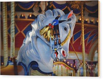 Carousel Wood Print by Lyle  Huisken