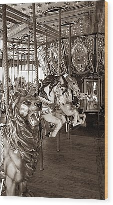 Wood Print featuring the photograph Carousel by Raymond Earley