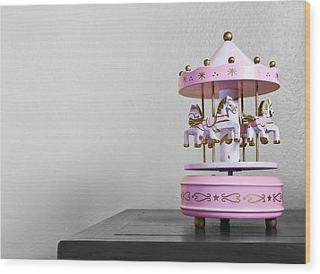 Carousel Toy  Wood Print by Natee Srisuk