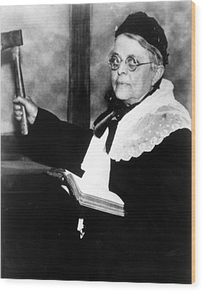 Carrie Nation, Circa 1900 Wood Print by Everett