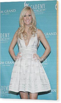 Carrie Underwood Wearing A Rafael Wood Print by Everett