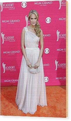Carrie Underwood Wearing A Randi Rahm Wood Print by Everett