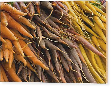 Wood Print featuring the photograph Carrots by Michael Friedman